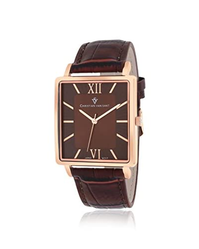 Christian Van Sant Men's CV8515 Monte Cristo Brown Leather Watch