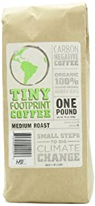 Tiny Footprint Coffee Organic Ground Coffee, 16-Ounce Bags (Pack of 2)