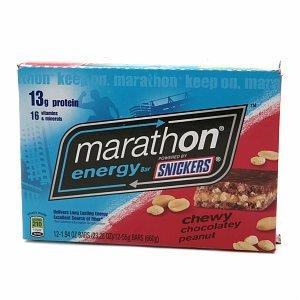Snickers Marathon Energy Bar Chewy Chocolate Peanut