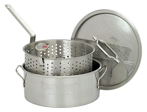 Bayou Classic 1101 10-Quart Stainless-Steel Fry Pot with Lid and Basket (10qt Fry Pot compare prices)