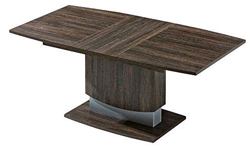 Esszimmertisch 138x90 cm Holzfaserplatte, Ausziehbar auf 183, Farbe: Dunkelbraun