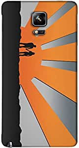 Timpax protective Armor Hard Bumper Back Case Cover. Multicolor printed on 3 Dimensional case with latest & finest graphic design art. Compatible with Samsung Galaxy Note 4 Design No : TDZ-27143
