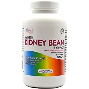 White Kidney Bean Extract- 1000mg Per Serving, 200 Capsules, 90 Day Supply, Carb Blocker and Appetite Suppressant, (Great To Use With Garcinia Cambogia) by Genetic Solutions