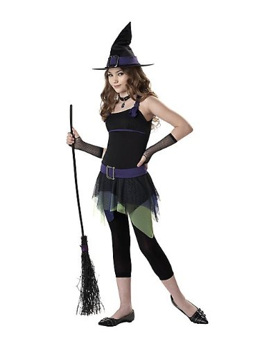 California Costumes Girls Tween Sassy Witch Costume