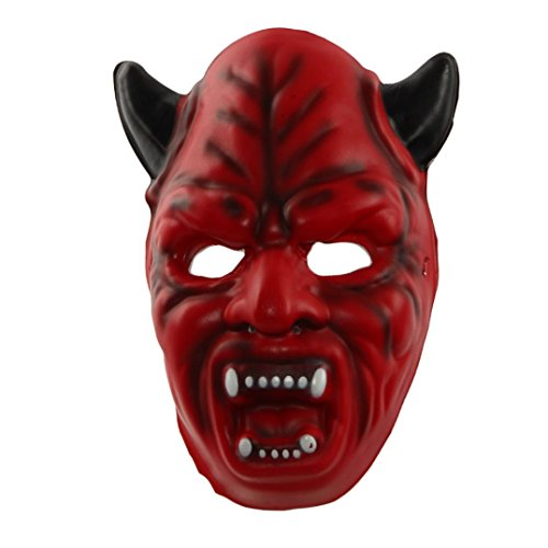 Halloween Mask! Elevin(TM) New Halloween Horror Costume Masquerade Funny Diversity Fancy Ball Mask Face Cosplay Carnival Party Mask (Red)