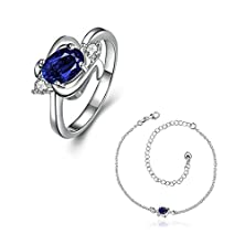 buy Silver Plated Women Jewelry Sets Ring Size 8 Earrings Cz Crystal Elements Crystal - Adisaer Jewelry