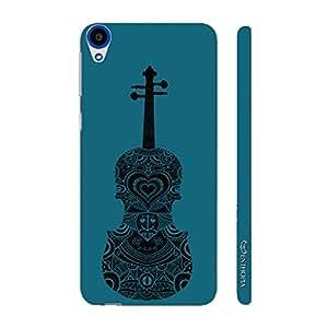 Enthopia Designer Hardshell Case Violin Rocks Back Cover for HTC Desire 820