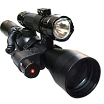 CVLIFE 3-9x40 Crosshair Optics Sniper Riflescope With Red Dot Laser Sight and 501B Torch Combination Set