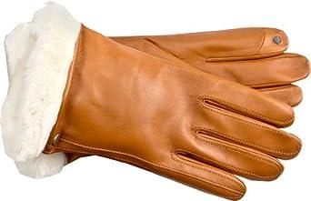 UGG Australia Women's Classic Leather Smart Glove Gloves,Chestnut,US XS US
