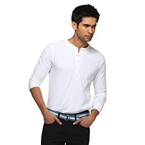 Harvard - Core Crew Neck Henley - Regular |Color: White |Size: Medium