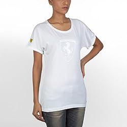 Puma Mens White Solid T-Shirt - 56096201-M