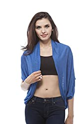 Open Cardigan with side layered (Large, RoyalBlue)