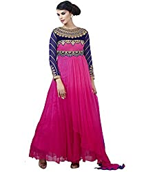 Ethnic Chic pink colored faux georgette suit.