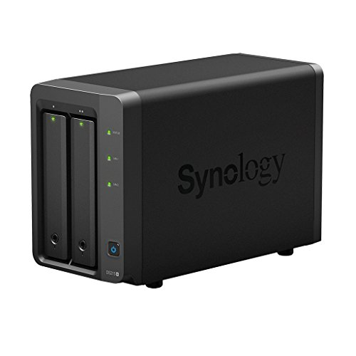 Synology DiskStation DS215+ Server NAS ,Dual Core 1.4 GHz, 1 GB DDR3, Nero