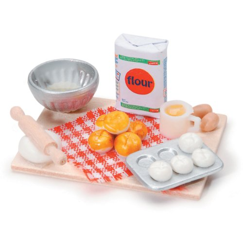 Miniature - Tabletop Bread Baking - 2.25 x 1.5 inches - 1 set