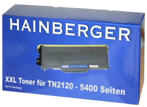 Toner für Brother TN-2120 Ultra High Capacity - Schwarz, 5.200 Seiten, kompatibel. Geeignet für Brother DCP-7030 Brother DCP-7040 Brother DCP-7045 N Brother HL 2140 Brother HL 2150 Brother HL 2150 N Brother HL 2150 W Brother HL 2170 W Brother MFC-7320 Brother MFC-7440 Brother MFC-7440 N Brother MFC-7840 W