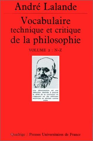 Vocabulaire technique et critique de la philosophie, coffret de 2 volumes