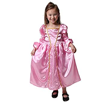 Girls Pink Medieval Princess Dress (Choose Size)