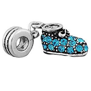 pandora style antique silver plated baby boy