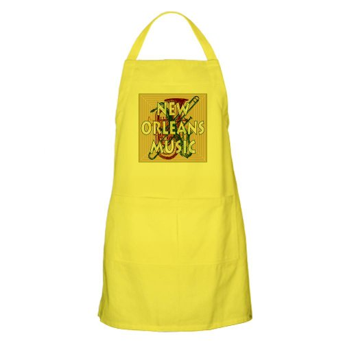Cafepress Purple New Orleans Music 2 BBQ Apron - Standard