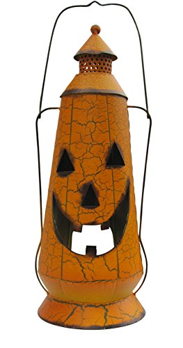 Halloween Pumpkin Jack-o-lantern with Crackle Finish