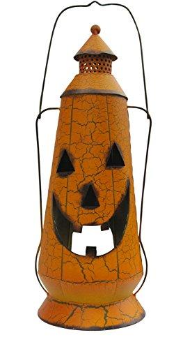 Halloween Pumpkin Jack-o-lantern with Crackle Finish