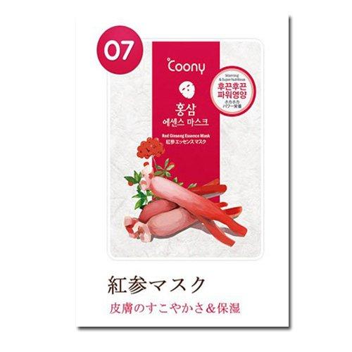 coony・韓国コスメ 潤い 乾燥肌 エッセンスマスクパック 紅参マスクパック10枚 びっくり品質