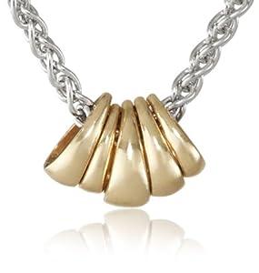 Mizuki 14Kt Light Silver Medium Wheat Chain Charm Bail Cluster Pendant Necklace, 17''