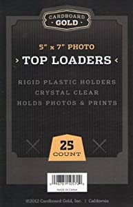 """Cardboard Gold Top Loader (5"""" x 7"""") - Pack of 25 - Next Generation Archival Protection"""