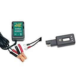 Battery Tender Junior Charger and LCD Voltage Display Bundle