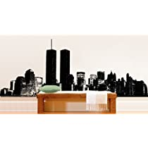 Vinyl Wall Art Decal Sticker (Black Color Only) World Trade Center NYC Large Abstract Decal