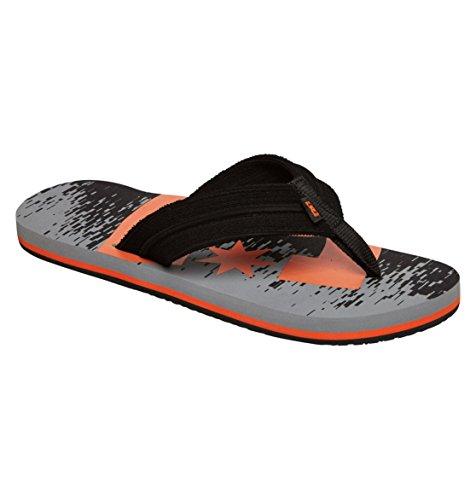 Dc Men'S Central Graffik Flip Flop,Grey/Orange,11 M Us front-967356
