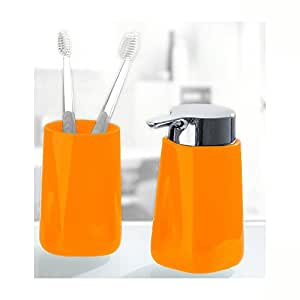 Unique Bath Accessories Set Bathroom Tumbler And Liquid Soap Dispenser 2 Pieces