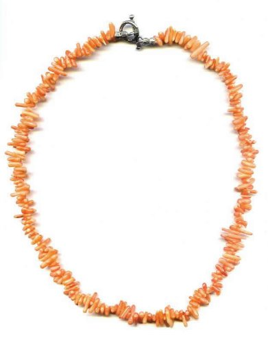 Necklace 45cm made of orange Coral branches
