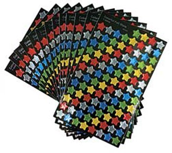 8 Pack TREND ENTERPRISES INC. STICKER FOIL STARS SUPER VARIETY PK