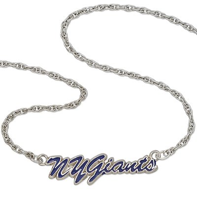New York Giants NFL Sterling Silver Script Necklace