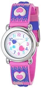 Jacques Farel Kids' HBBC8734 Hearts Watch with Photo Frame Gift Set