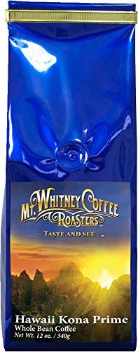Mt. Whitney Coffee Roasters: 12Oz Hawaii Kona Prime, Whole Bean Coffee, Nitrogen Packed For Freshness