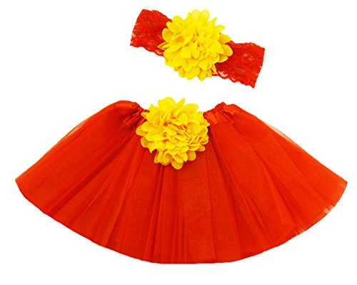 Wholesale Princess Red and Yellow Tutu Gift Set Fits 0-12mo