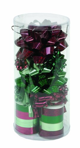 CR Gibson Nature's Holiday Deluxe Ribbon And Bow Combination Pack