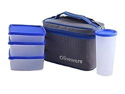 Oliveware New Lunch Bag Set of 4 (LB53 Blue)