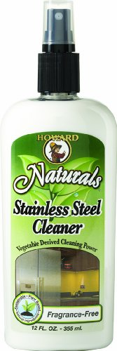 Howard Products SS0012 Natural Stainless Steel Cleaner Trigger Spray, Fragrance-Free 12 oz