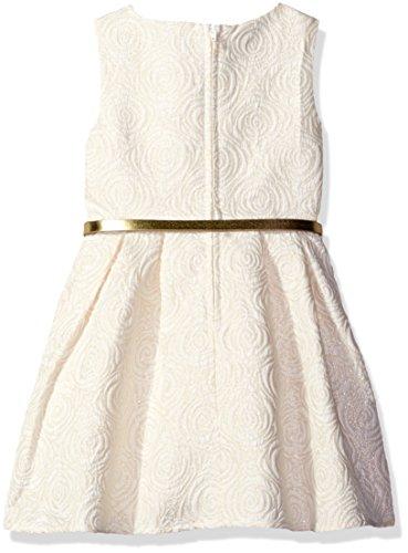The Children's Place Big Girls' Strapless Jacquard Dress, White, 8