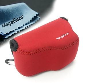 MegaGear ''Ultra Light'' Neoprene Camera Case Bag for Sony A6000 (Red) [Camera]