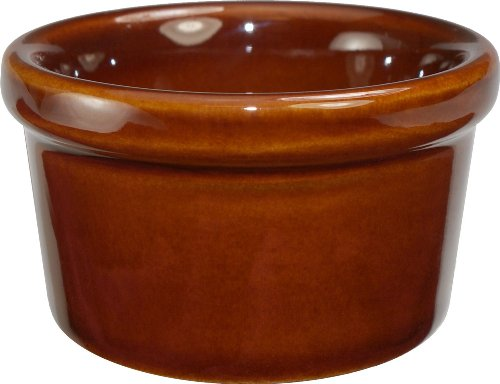 ITI-RAM-25-C Caramel Outside American White Inside Ramekin, 2-1/2-Ounce, 48-Piece