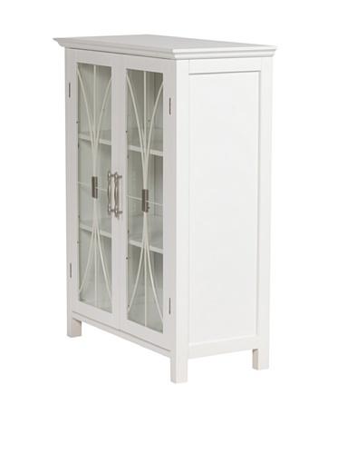 Delaney Floor Storage Cabinet with 2 Doors in White (Cabinet With Glass Doors White compare prices)