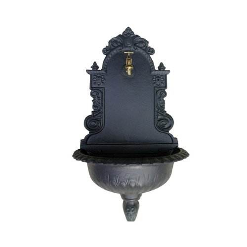 Papillon 55493 Fontana Muro in Ghisa, 45X25X80 cm, Antracite