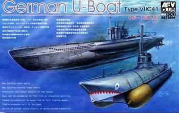 U-Boat Type VII C41 Submarine 1-350 AFV Club