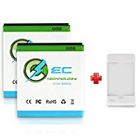EC TECHNOLOGY 2 x 2300mAh Li-ion Batteries for T-mobile Samsung Galaxy S2 Samsung T989 AT&T Samsung Galaxy S2...