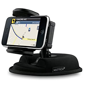 Naztech Universal Dashboard and Window Mount for GPS iPhone MP3 Devices from Naztech